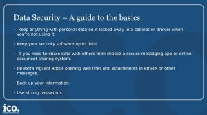Data Security - Advice from the ICO